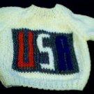Handmade Baby Born Doll Sweater - USA Patch