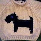 Handmade Our Generation Sweater - Scottish Terrier Dog