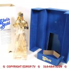 1977 Elvis McCormick Gold Whiskey Decanter Music Box Sealed Full Mint