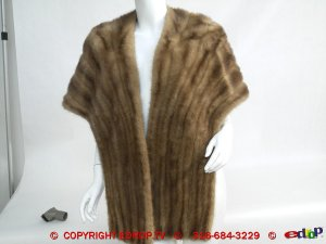 Vtg 50's CHIC Glam BLONDE MINK Stole FUR WRAP Coat WOW