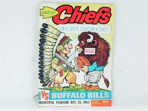 1963 Kansas City Chiefs vs. Buffalo Bills Official Football Program