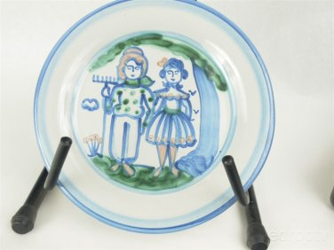 """MA Hadley 13"""" Man and woman plate (Mint Condition)"""