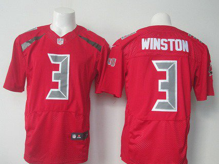 official photos bf0a8 0e7d9 Men's Tampa Bay Buccaneers #3 Jameis Winston Red Color Rush 2015 Elite  Jersey