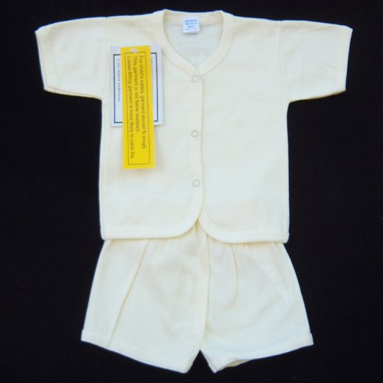 YARD SALE - INFANT SLEEPWEAR 3-6 MOS. YELLOW SHORT SET - FREE USA + CAN SHIPPING