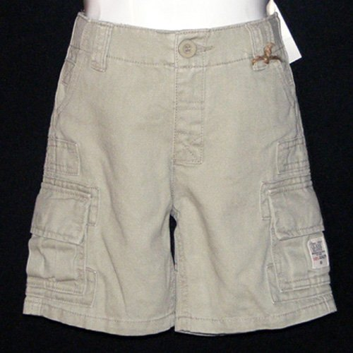GUESS JEANS KHAKI CARGO SHORTS WITH MULTIPLE POCKETS AND ADJUSTABLE WAISTBAND 2T - FREE SHIPPING