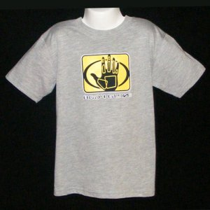 BODY GLOVE GREY SHORT SLEEVE TEE SHIRT WITH CHEST AND BACK LOGO BOYS L (7) - FREE SHIPPING