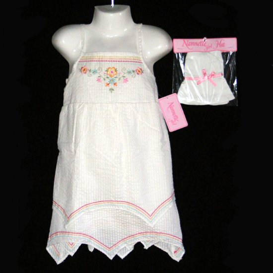 NANNETTE EMBROIDERED DRESS SET GIRLS 5 - FREE USA + CAN SHIPPING