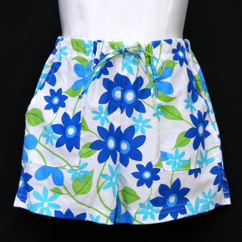 CHICKEN NOODLE FLORAL SHORTS GIRLS 5 - FREE USA + CAN SHIPPING