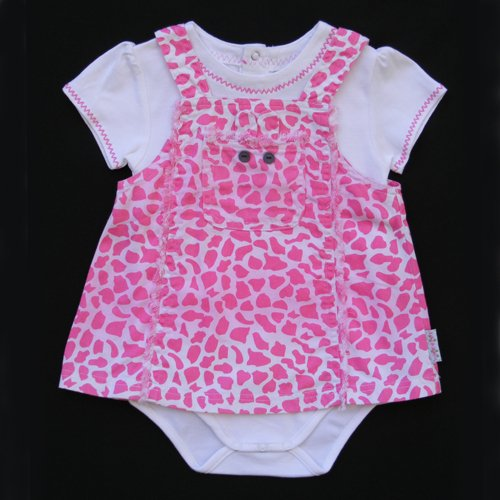 LIL' JELLYBEAN GIRAFFE DRESS SET 12 MOS. - FREE USA + CAN SHIPPING
