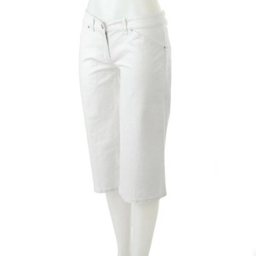 MAX STUDIO WHITE LINEN BLEND FOUR POCKET STYLE CROPPED PANTS 10 - FREE SHIPPING