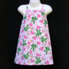 LIL' JELLYBEAN PINK AND GREEN MULTI HIBISCUS AND PALM TREE TROPICAL SUNDRESS 3T - FREE SHIPPING
