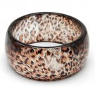 MULTICOLOR TRANSLUCENT RESIN LEOPARD PATTERN 8 INCH BRACELET WITH GLITTER - FREE SHIPPING