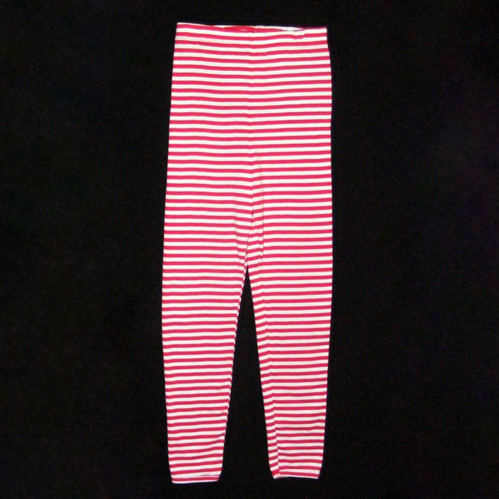 CHICKEN NOODLE 100% COTTON ELASTIC WAIST STRIPED LEGGINGS GIRLS 6 MADE IN USA - FREE SHIPPING