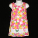 LIL' JELLYBEAN MULTICOLOR BUTTERFLIES & FLOWERS MOTIF SLEEVELESS SUMMER DRESS 2T - FREE SHIPPING