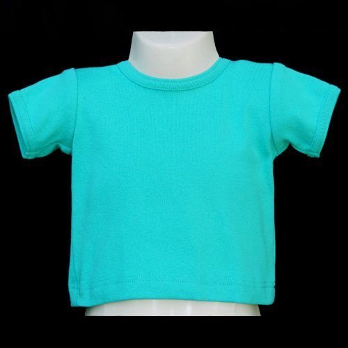 CHICKEN NOODLE 100% COTTON SHORT SLEEVE BLUE CREW NECK TOP 9 MONTHS MADE IN USA - FREE SHIPPING