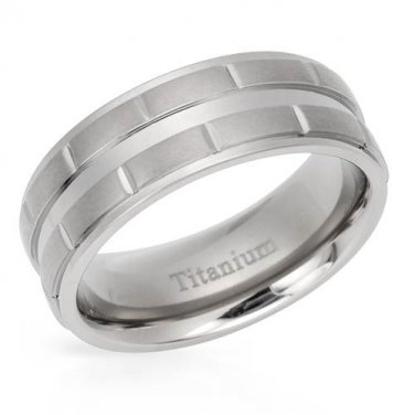 GENTLEMEN�S METALLIC COLOR BAND RING CRAFTED IN TITAMIUM US-9 - FREE SHIPPING