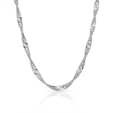 STERLING SILVER 925 QUALITY 20� TWISTING CHAIN NECKLACE - FREE SHIPPING
