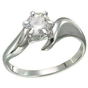 Diamond Engagement Ring 1/2 Carat 14k White Gold