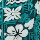 Green Tapa and Floral Print Hawaiian Aloha Shirt