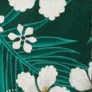 Green Floral and Leaf Print Hawaiian Aloha Shirt