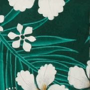 Green Floral and Leaf Print Hawaiian Aloha Shirt