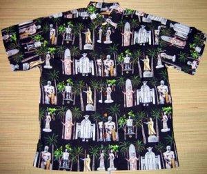 Mango Moon Hawaiian Heroes Black Aloha Shirt