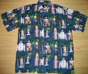 Mango Moon - Hawaiian Heroes Aloha Shirt - Blue