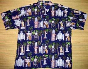 Mango Moon - Hawaiian Heroes Aloha Shirt - Navy Blue