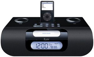 ILUV I277BLK DOCKING SPEAKERS WITH BLUETOOTH® (BLACK)