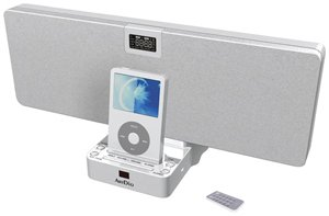 Artdio 2.1 IPOD docking speaker with radio & alarm clock