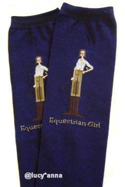 Equestrian Girl By The Girls Navy Knee High Socks