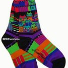 Laurel Burch Feline Friends Purple Socks