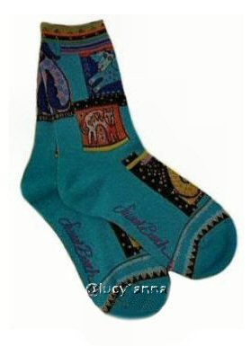 Laurel Burch Mythical Dogs Socks