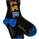 Laurel Burch Jungle Cats Socks