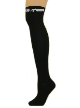 Over The Knee Designer Socks Black