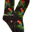 K.Bell Scarlet Macaw Socks Black