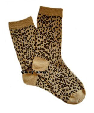 K.Bell Leopard Print Socks