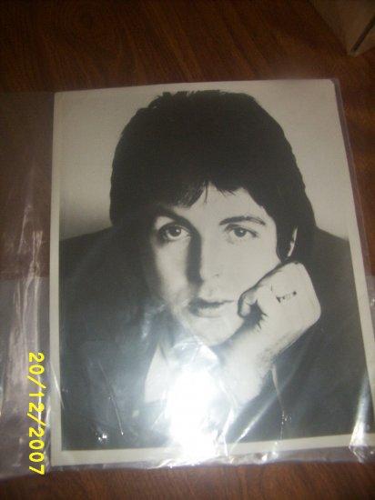 Beatles Paul Mccartney Photo 8x10 Black & White music