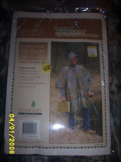 Trebark Poncho Hunting Gear Camo Adult size  NEW