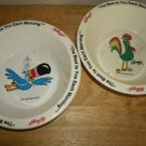 Kelloggs Bowls Tuchan and Rooster