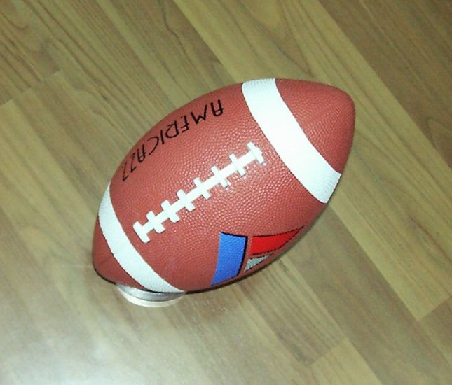 rubber American football