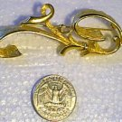Goldtone Long Scroll Pin by CATHE