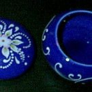 Cobalt Blue & White Ceramic Gift Trinket Box