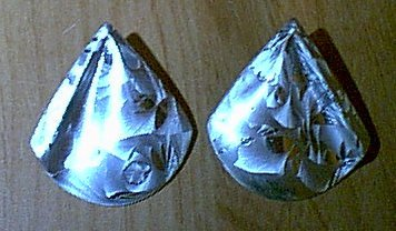 Brushed Silvertone Post Jack Frost Crystalized Earrings