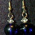 Swarovski Crystal & Cobalt Glass Beaded Wire Earrings