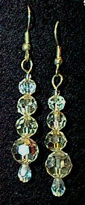 Swarovski Crystal & Czeck Glass Beaded Wire Earrings