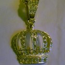Large Silver Crown Necklace with Crystal Rhinestones