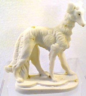 Alabaster Llapso Apso ? Airdale Dog Figurine