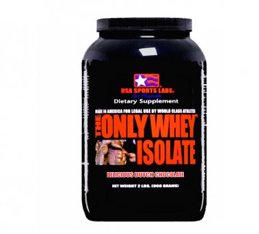 THE ONLY WHEY ISOLATE (90%) 2 lb Chocolate Flavor