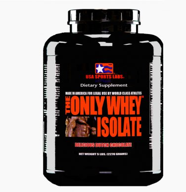 THE ONLY WHEY ISOLATE (90%) 5 lb Chocolate Flavor